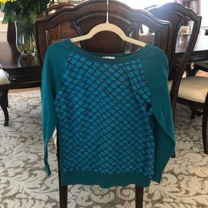Emerald loft sweater; large